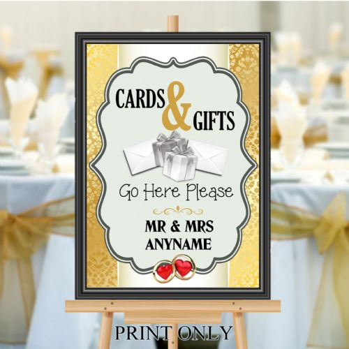 Personalised Wedding Cards & Gifts Sign Poster Banner - Print N193
